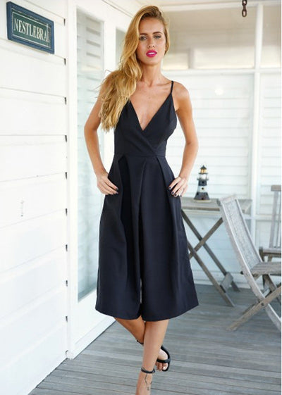 Lila Halter Wide Leg Jumpsuit - Belle Valoure - 1