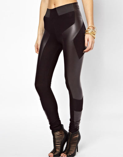Lila Leather Leggings - Belle Valoure - 1