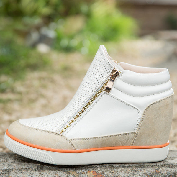 Lora Leather High Top Sneakers - Belle Valoure - 6