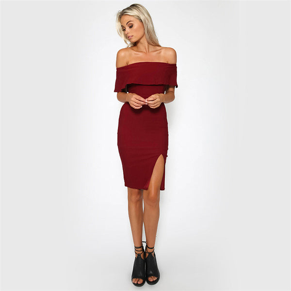 Tamaran Off Shoulder Dress - Belle Valoure - 3