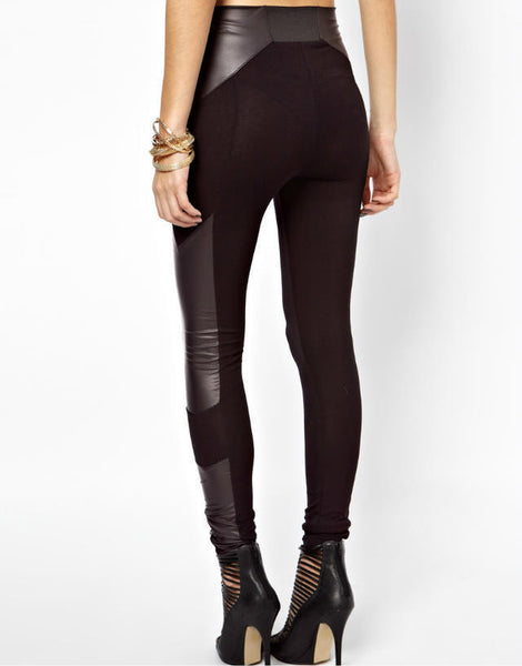 Lila Leather Leggings - Belle Valoure - 2