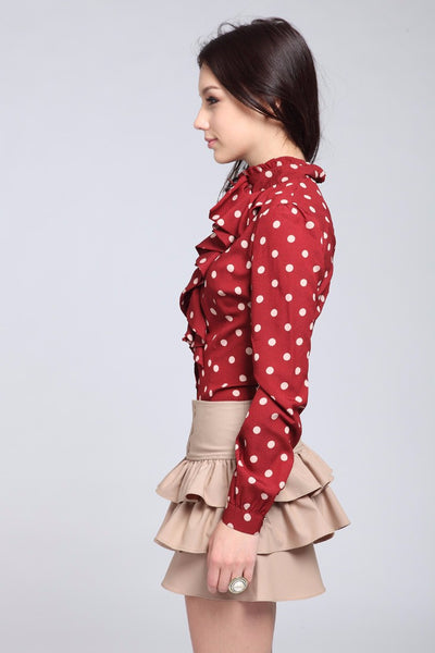 Mia Polka Dot Blouse - Belle Valoure - 3