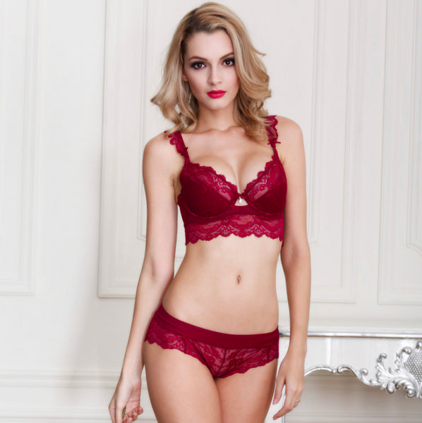 Tamarin Lace Bra And Panty Set - Belle Valoure - 1