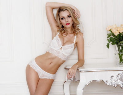Tamarin Lace Bra And Panty Set - Belle Valoure - 4