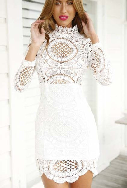 Tamarin Long Sleeve Lace Dress - Belle Valoure - 2