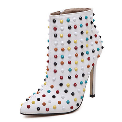 Sale! Tamara Studded Boots - Belle Valoure - 1