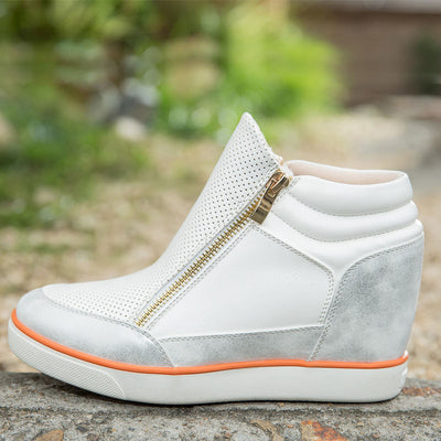 Lora Leather High Top Sneakers - Belle Valoure - 4