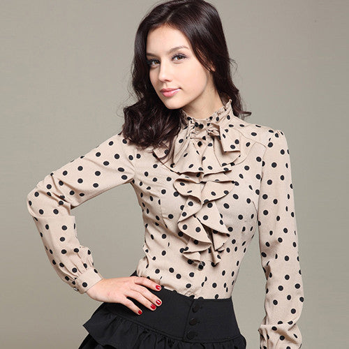 Mia Polka Dot Blouse - Belle Valoure - 4