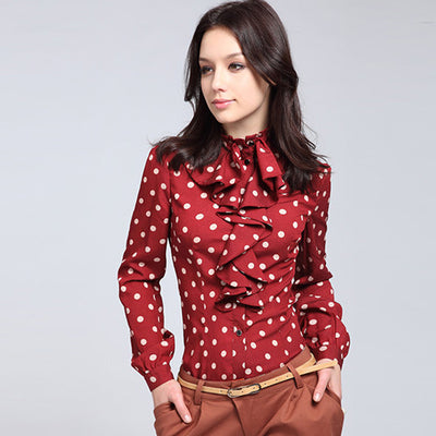 Mia Polka Dot Blouse - Belle Valoure - 1