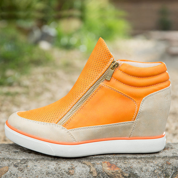 Lora Leather High Top Sneakers - Belle Valoure - 3