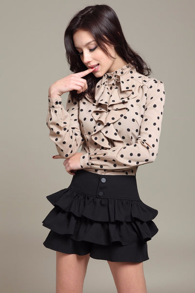 Mia Polka Dot Blouse - Belle Valoure - 5