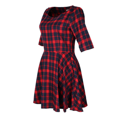 Lila Plaid Dress - Belle Valoure - 2