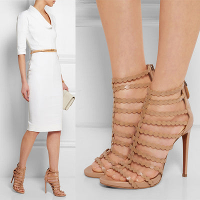 Olivia Platform High Heel Sandals - Belle Valoure - 1