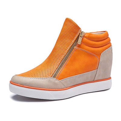 Lora Leather High Top Sneakers - Belle Valoure - 2