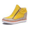 Lora Leather High Top Sneakers - Belle Valoure - 1