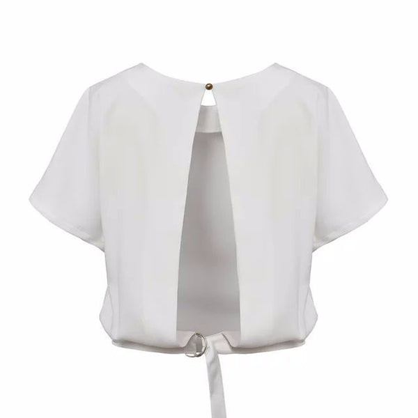 Mia Knotted Blouse - Belle Valoure - 3