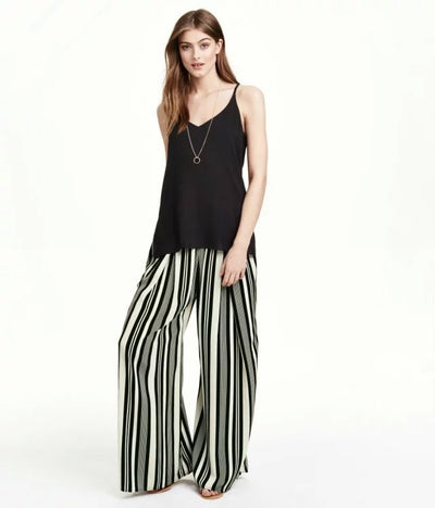 Lila Striped Stretch Trousers - Belle Valoure - 2