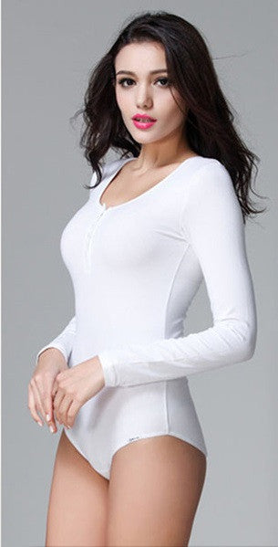 Mia Long Sleeve Bodysuit Shirt - Belle Valoure - 1