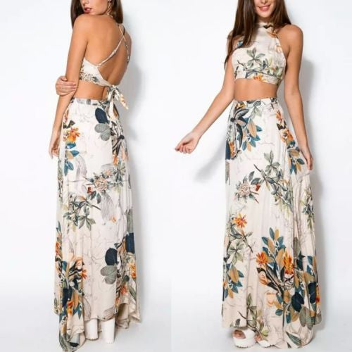 2 Piece Floral Dress Set