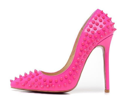 Lux Spiked Heels - Belle Valoure - 12