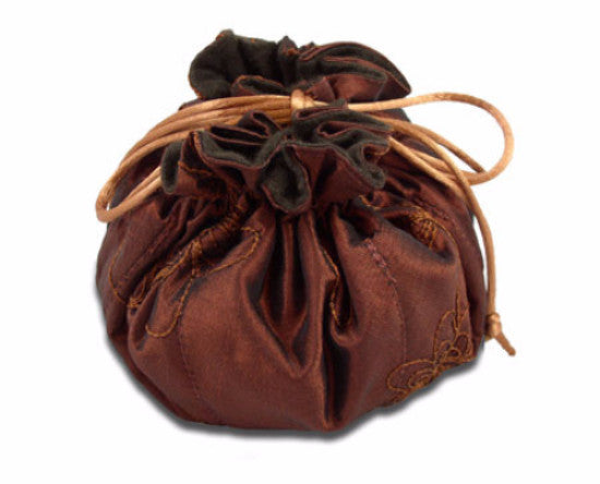 Drawstring Jewelry Travel and Storage Bag Lined with Pacific Silvercloth