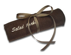 Salad Forks Embroidered Pacific Silvercloth Flatware Storage Rolls