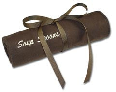 Soup Spoons Embroidered Pacific Silvercloth Flatware Storage Rolls