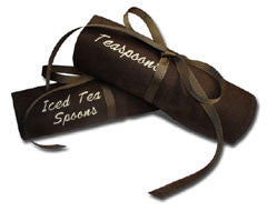 Iced Tea Spoons Teaspoons Embroidered Pacific Silvercloth Flatware Storage  Rolls