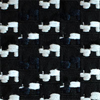 black and navy houndstooth