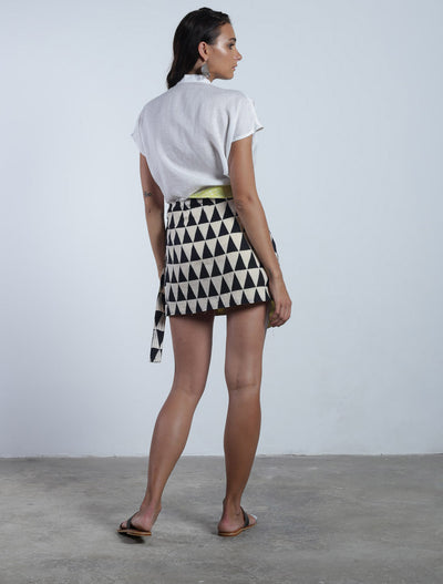 Chika Wrap Mini Skirt