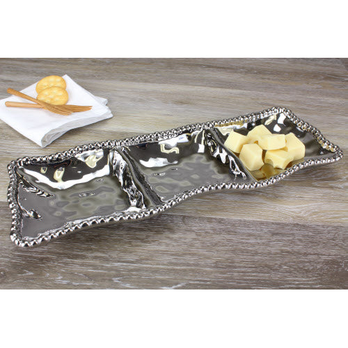 Rectangle 3-Section Serving Piece