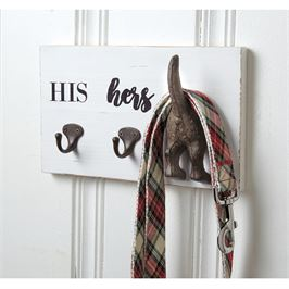 His, Hers, & Pup Wall Hook