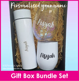 Customised Name Water Bottle Tumbler Cup Gift Box Set / Christmas Gift Ideas / Present / Valentine Day / Mother Day / Father Day / Anniversary