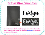 Customised Name Passport Holder / Personalised Name Print Passport Cover / Travel Essentials / Christmas Present / Gift Ideas