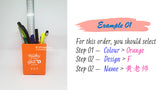 Teacher's Day Pencil Holder / Customised Name Print Pen Stationery Holder / Teachers Day Gift Ideas