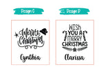 Christmas Prints / Xmas Prints Name Water bottle / Customised Name Water Tumbler / Birthday Present / Christmas Gift Ideas