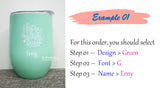 Mother's Day / Father's Day / Customised Name Print Tumbler Cup / Christmas Gift Ideas / Mug