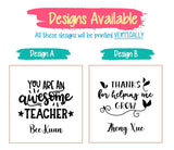 Teachers Day Design / Customised Name Print Mask Holder / Mask Case / Face Mask Storage Box / Face Mask Casing / Christmas Gift