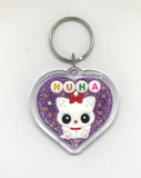 Personalised Crystal Keychain Customised Name Bag Tag
