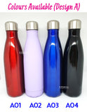 Couple Water Bottle / Customised Name Water Tumbler / Valentine Day Present / Anniversary Gifts Idea