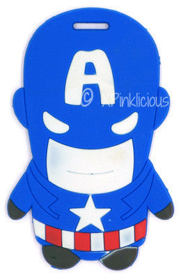 Captain America Luggage Tag / Travel Essentials / Children Day Gift Ideas / Birthday Goodie Bag / Party Favors / Kids Present / Christmas