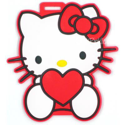 Kitty Red Heart Luggage Tag / Travel Essentials / Children Day Gift Ideas / Birthday Goodie Bag / Party Favors / Kids Present / Christmas