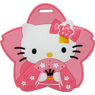 Kitty Pink Star Luggage Tag / Travel Essentials / Children Day Gift Ideas / Birthday Goodie Bag / Party Favors / Kids Present / Christmas