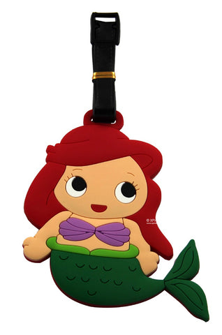 Ariel Mermaid Princess Luggage Tag / Travel Essentials / Children Day Gift Ideas / Birthday Goodie Bag / Party Favors / Kids Present / Christmas