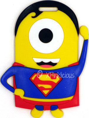 Minion Superman Luggage Tag / Travel Essentials / Children Day Gift Ideas / Birthday Goodie Bag / Party Favors / Kids Present / Christmas