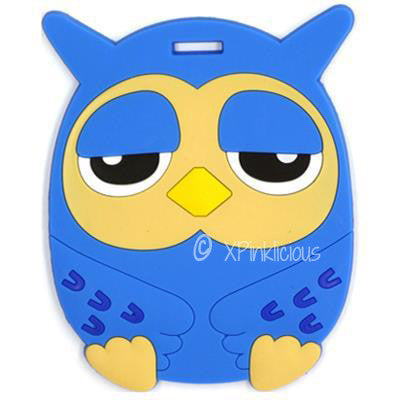 Blue Owl Luggage Tag