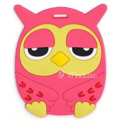Pink Owl Luggage Tag / Travel Essentials / Children Day Gift Ideas / Birthday Goodie Bag / Party Favors / Kids Present / Christmas