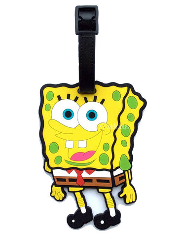 Spongebob Luggage Tag / Travel Essentials / Children Day Gift Ideas / Birthday Goodie Bag / Party Favors / Kids Present / Christmas