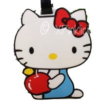 Kitty Apple Luggage Tag / Travel Essentials / Children Day Gift Ideas / Birthday Goodie Bag / Party Favors / Kids Present / Christmas
