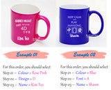 Mahjong / 4D / Toto / Soccer / Singapore Design / Customised Name Print Cup / Christmas Gift Ideas